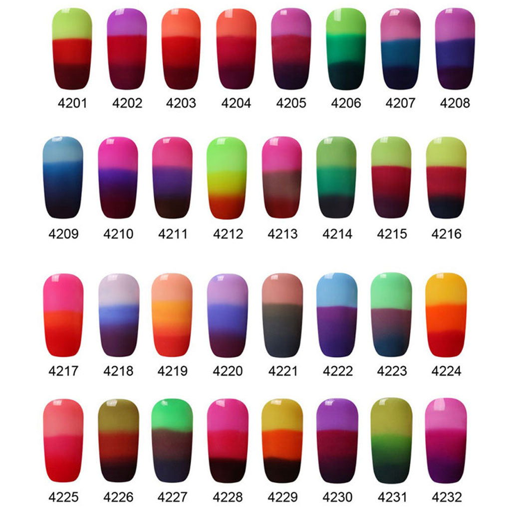 Color Changing UV LED Gel Nail Polish - Changes Color According To ...