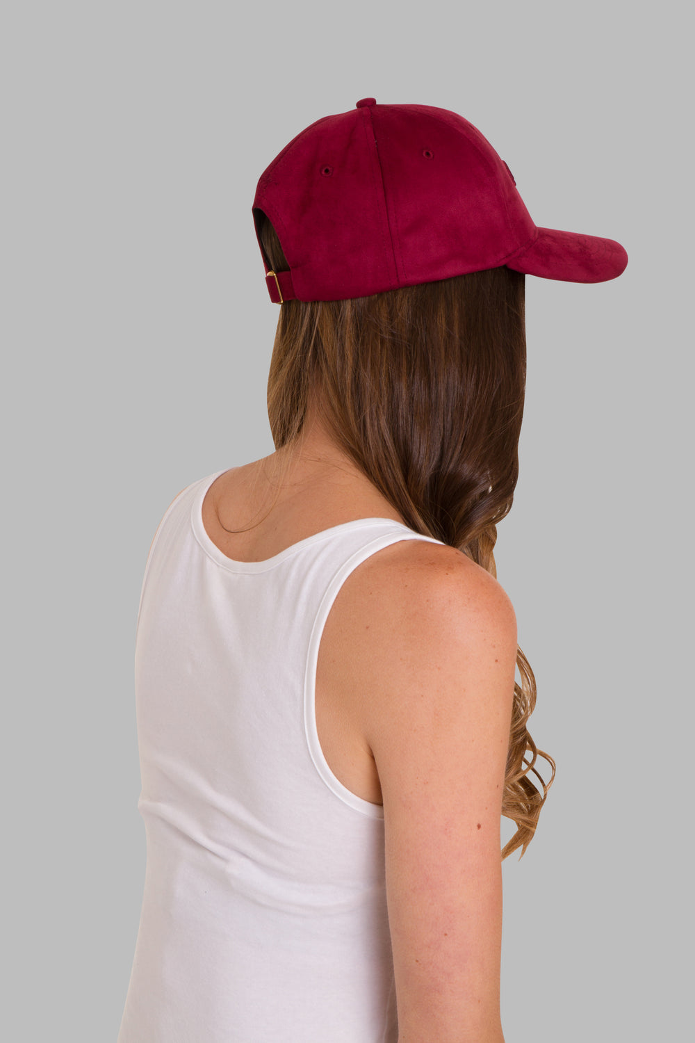 Burgundy Suede Cap - IDNTY Clothing