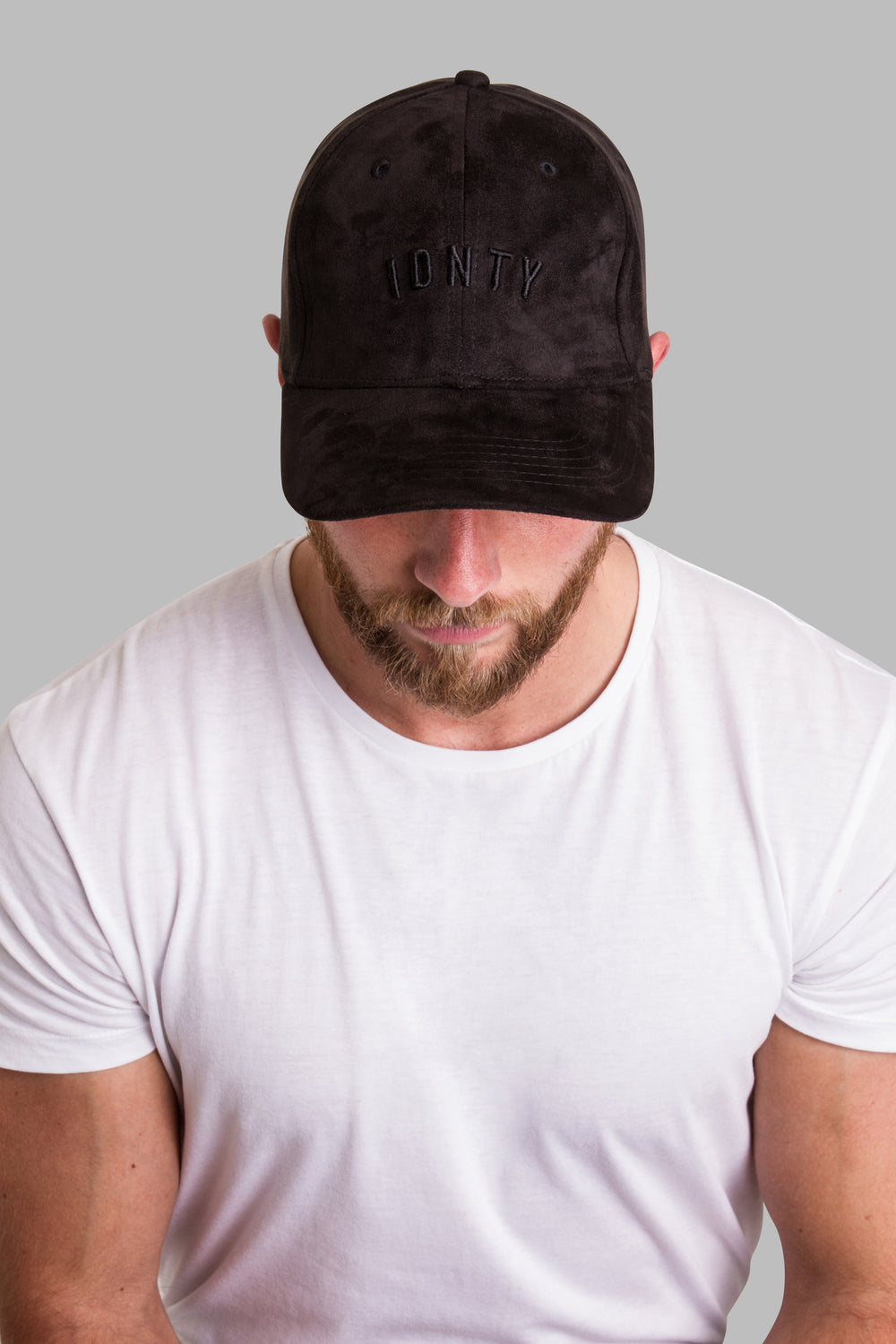 Black Suede Cap - IDNTY Clothing