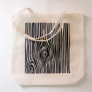 Wood Grain Tote Bag - HRZN