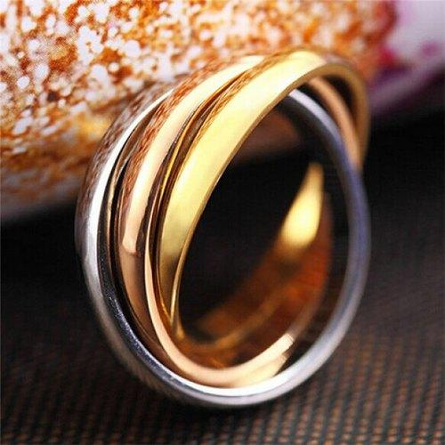 Trendy Multilayered Stainless Steel Ring For Men - One-size