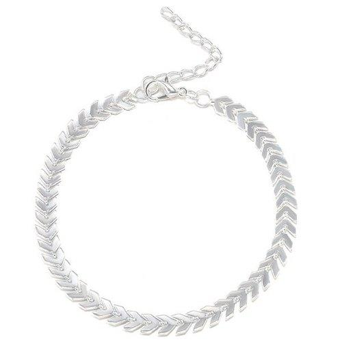 Arrow Chain Anklet - Silver