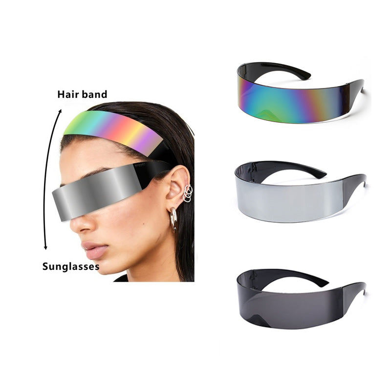 3 PCS Safety Glasses Eyewear Protective Safety Goggles Fashion Shield Sunglasses Cool Hair Band for Men Women for Sports Cycling
