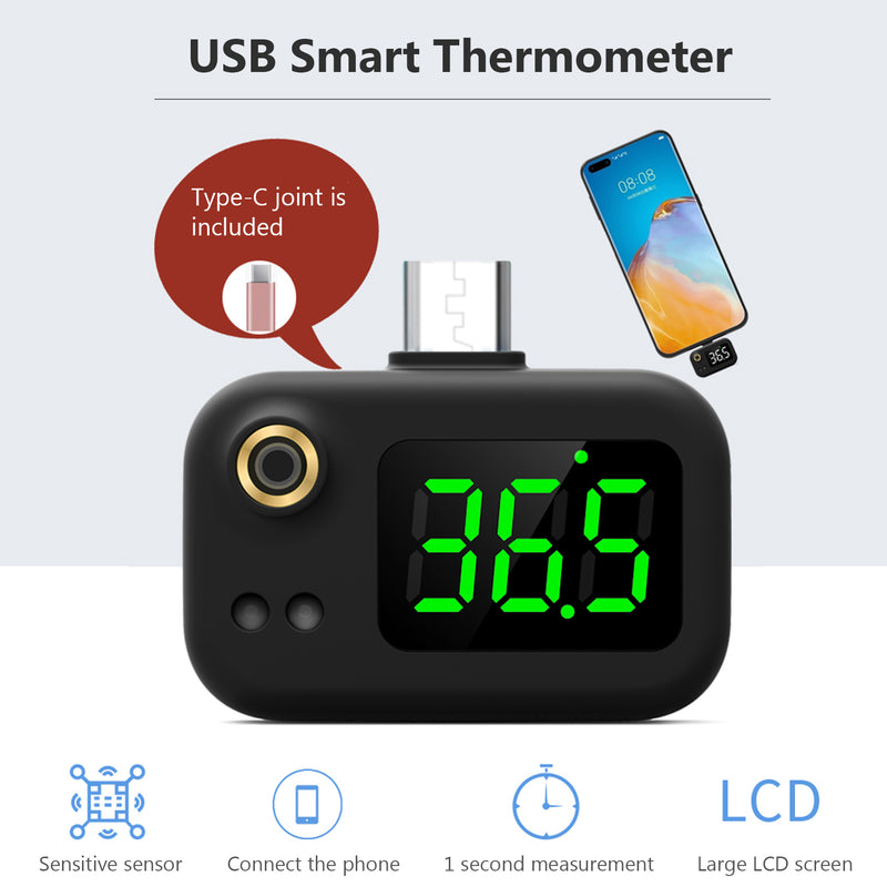 Mobile phone thermometer