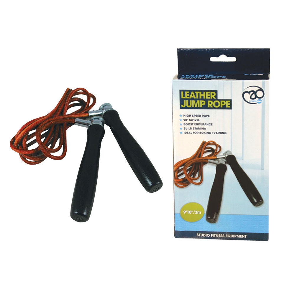 Boxing-Mad Pro Leather Jump Rope