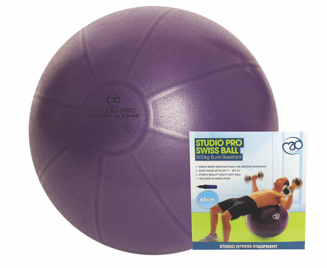 65cm Pro Swiss Ball (500Kg) with Pump