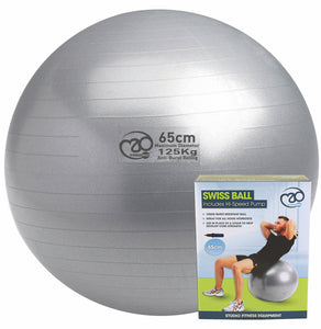 Anti-Burst Swiss Ball 65cm, 125kg Load Rating with Pump