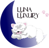 Luna Luxury White Cat on Blue Moon