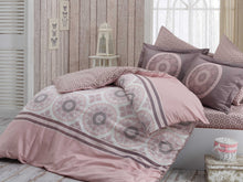 Load image into Gallery viewer, Organic-Natural-eco-friendly-cotton-sateen-quilt-cover-set-Diana-dusky-pink-queen-size
