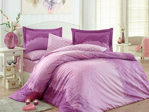 Organic-Natural-eco-friendly-cotton-sateen-quilt-cover-set-Florance-purple-pink-queen-size
