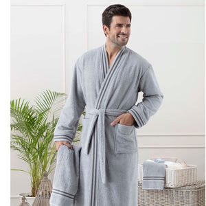 Mens Bathrobe and Towel set