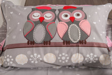 Load image into Gallery viewer, organic-cotton-quilt-cover-set-Hoot-grey-single-pillowcase