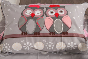organic-cotton-quilt-cover-set-Hoot-grey-single-pillowcase