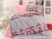 Load image into Gallery viewer, organic-cotton-quilt-cover-set-Hoot-grey-single