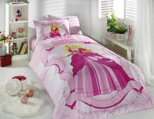 Load image into Gallery viewer, organic-cotton-quilt-cover-set-Princess-pink-single