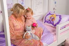 Load image into Gallery viewer, organic-cotton-quilt-cover-set-Princess-purple-single-close-up-mother-and-daughter