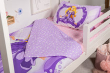 Load image into Gallery viewer, organic-cotton-quilt-cover-set-Princess-purple-single-close-up