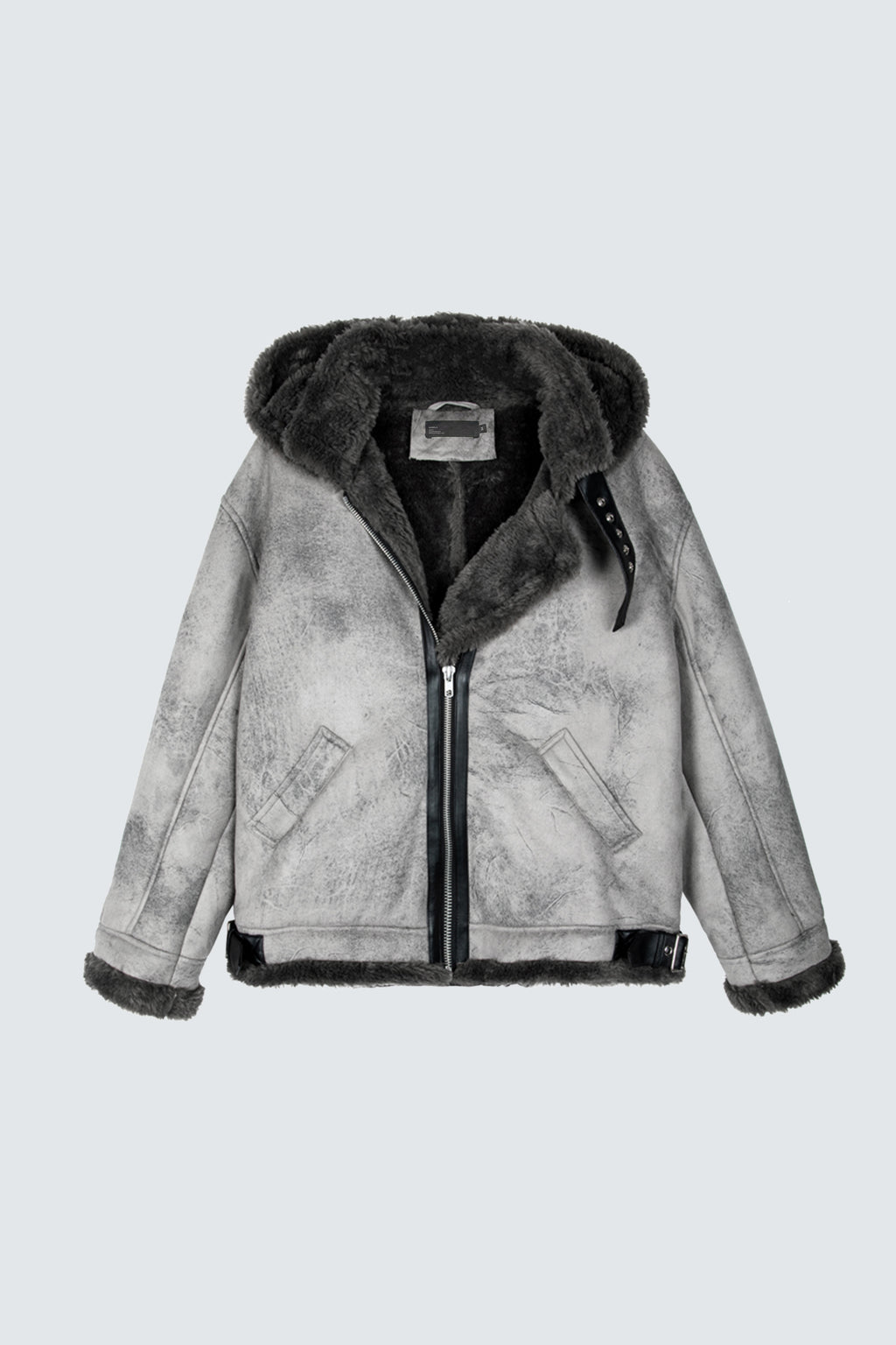 Shearling Jacket - Marble Wash - SVPPLY. STUDIOS