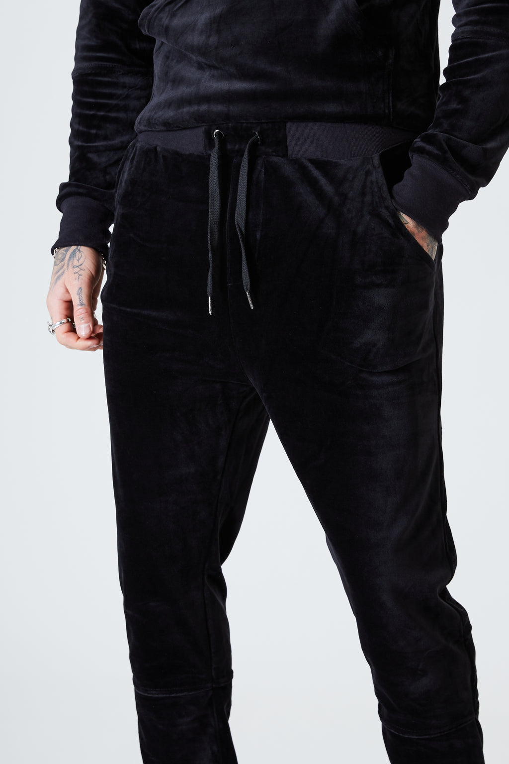 Luxe Velour Track Pants - Black - SVPPLY. STUDIOS