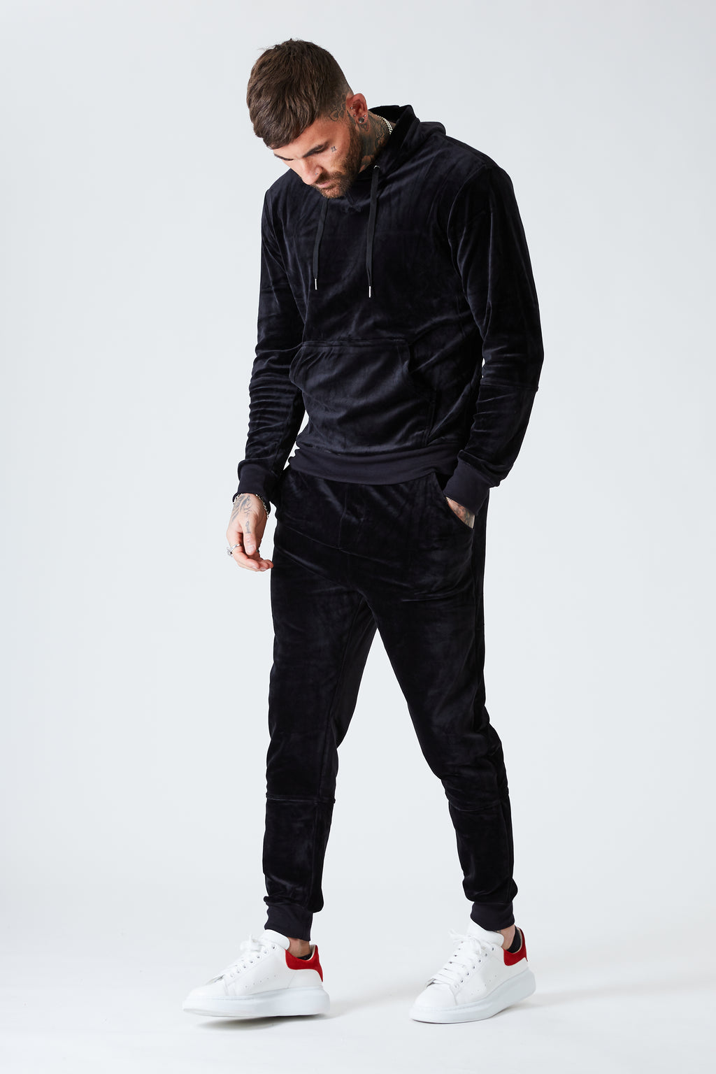 Luxe Velour Track Top - Black - SVPPLY. STUDIOS
