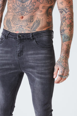 Super Skinny Spray On Jeans - Grey - SVPPLY. STUDIOS