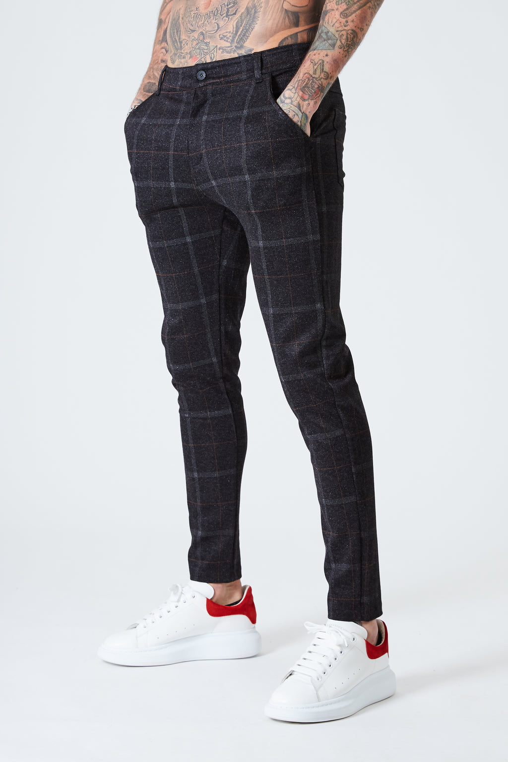 Luxe Check Trousers - Black - SVPPLY. STUDIOS