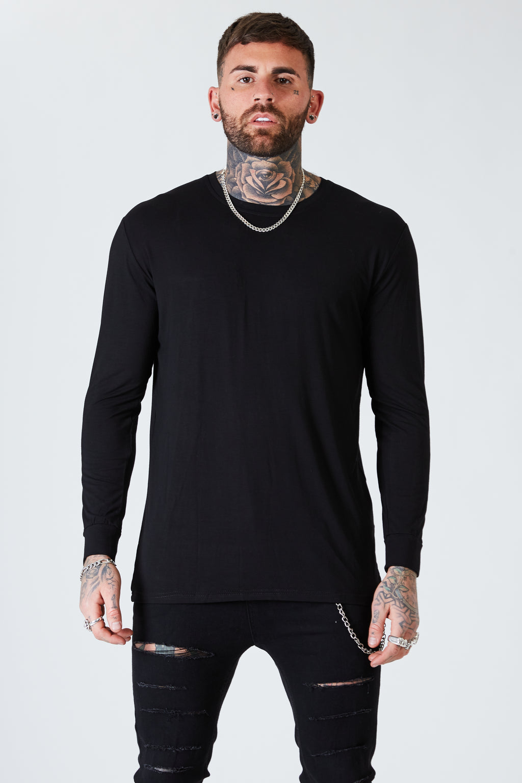 Long Sleeve Luxe Tee  - Black - SVPPLY. STUDIOS