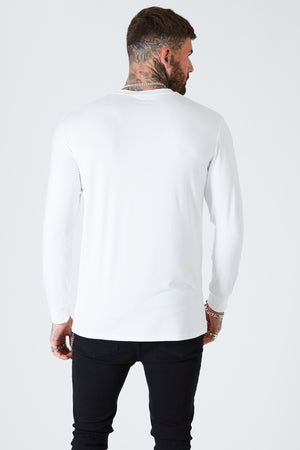 Long Sleeve Luxe Tee  - White - SVPPLY. STUDIOS