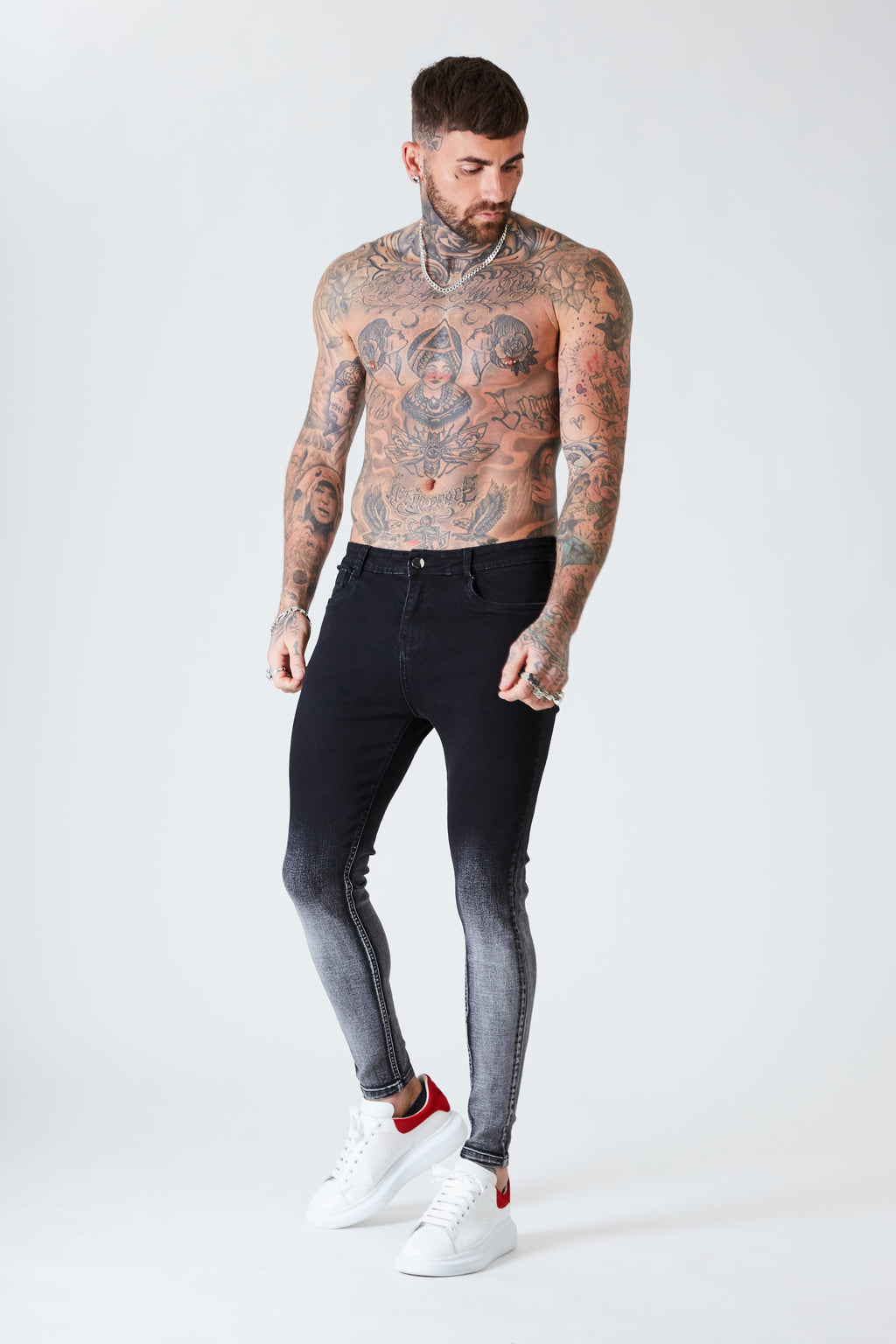 Spray on Skinny Jeans - Black Fade - SVPPLY. STUDIOS