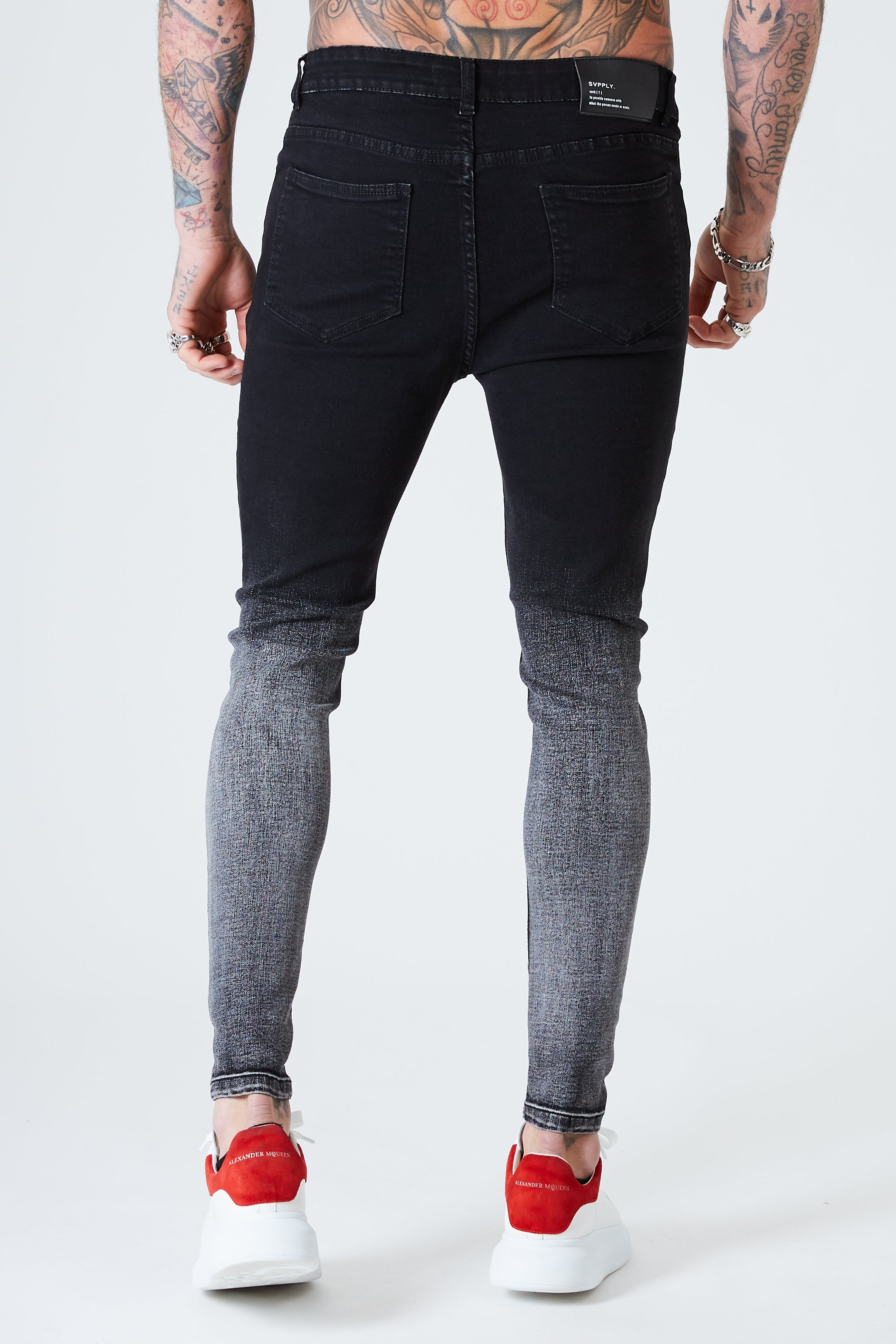 Spray on Skinny Jeans - Black Dip Fade - SVPPLY. STUDIOS