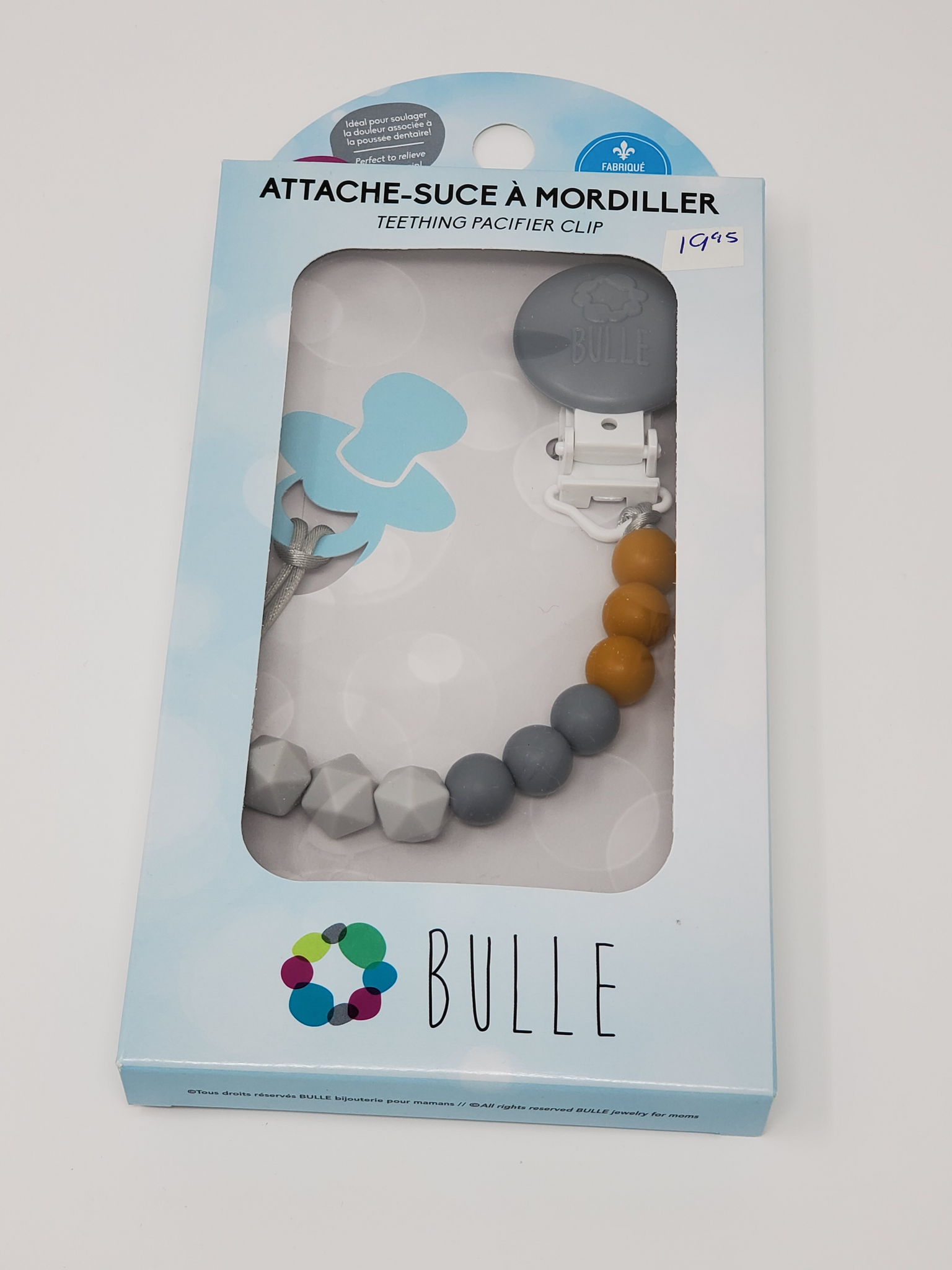 Attache-suce Bulle Billes Dijon/gris