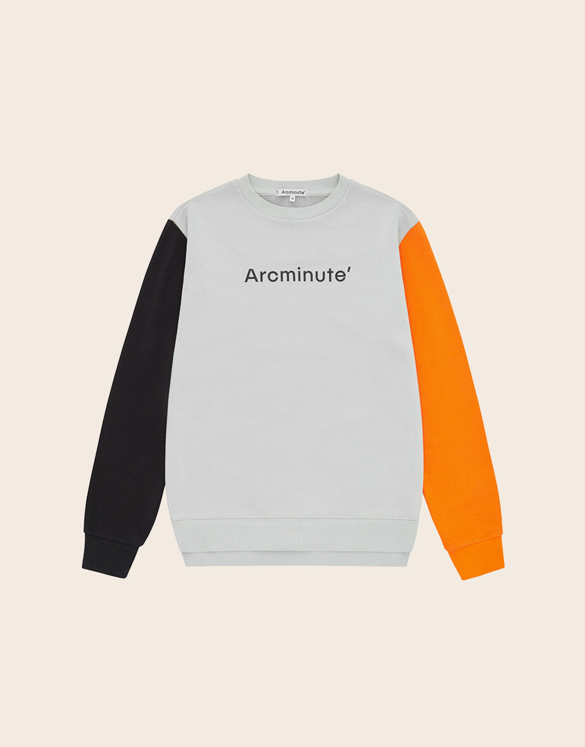 Fibonacci Sweatshirt Grey & Orange - Arcminute