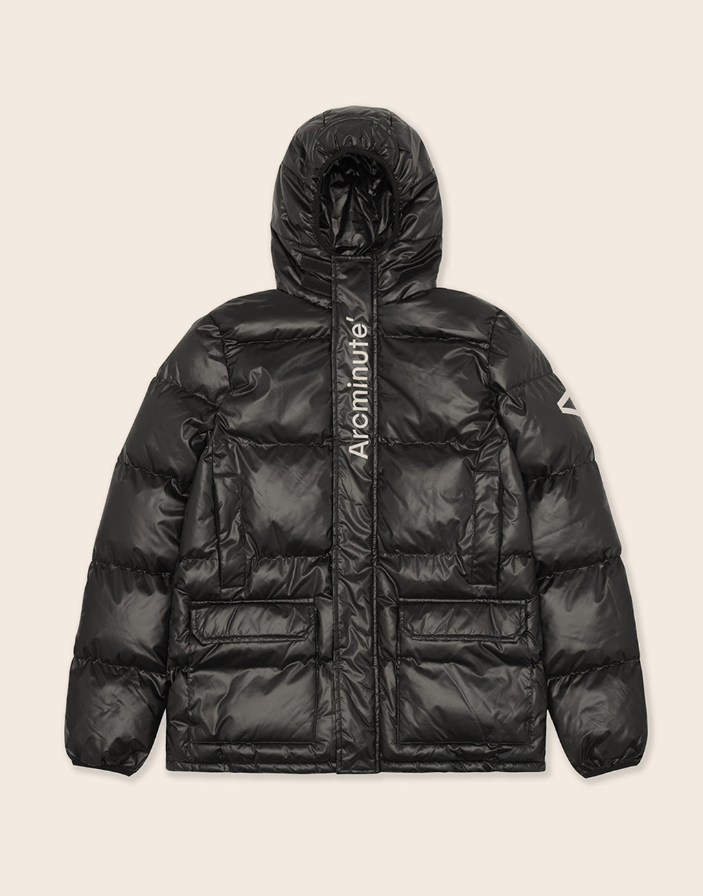 Warp Puffer Jacket Black - Arcminute