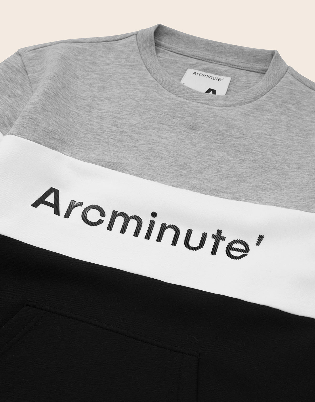 Effra Crewneck Grey And Black - Arcminute