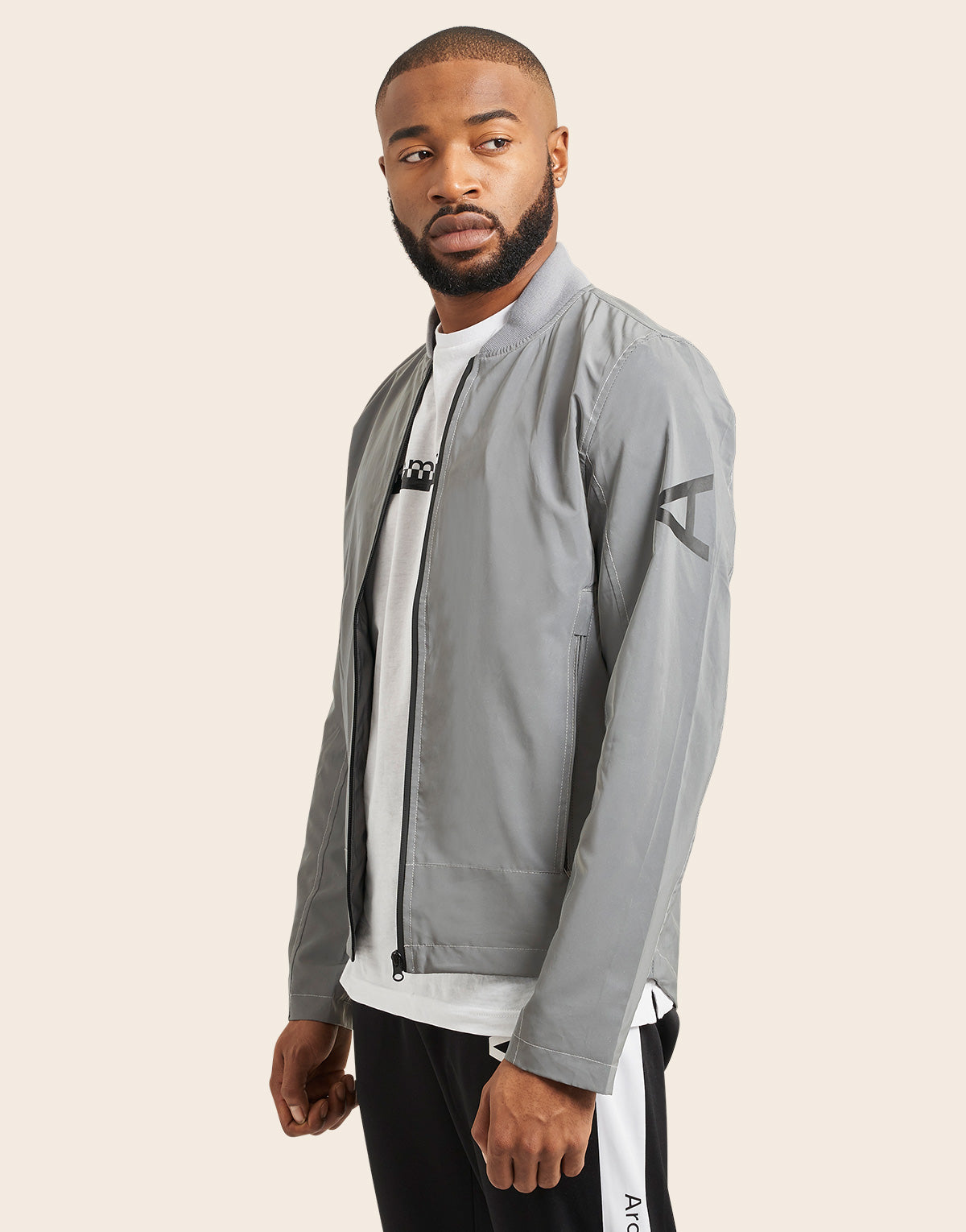 Clock Tower Reflective Bomber Jacket - Arcminute