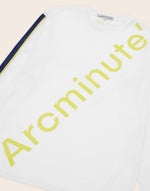 Russel T-Shirt White & Blue - Arcminute