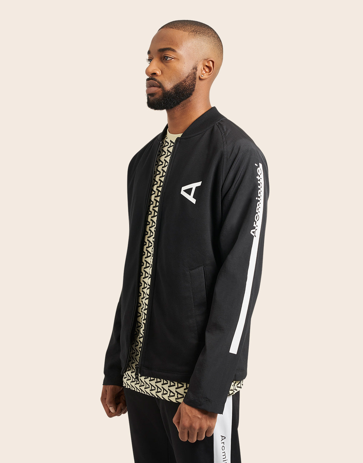 Tannen Bomber Jacket Black - Arcminute