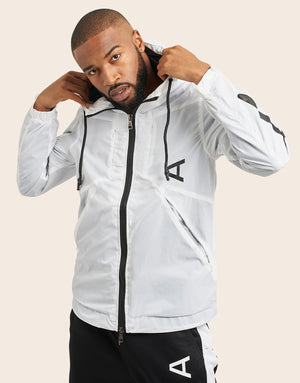 Zemeckis Windbreaker White - Arcminute
