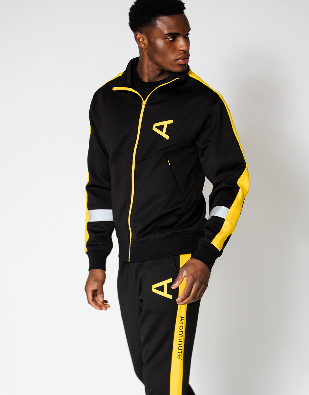 Mcauliffe Track Top Black - Arcminute