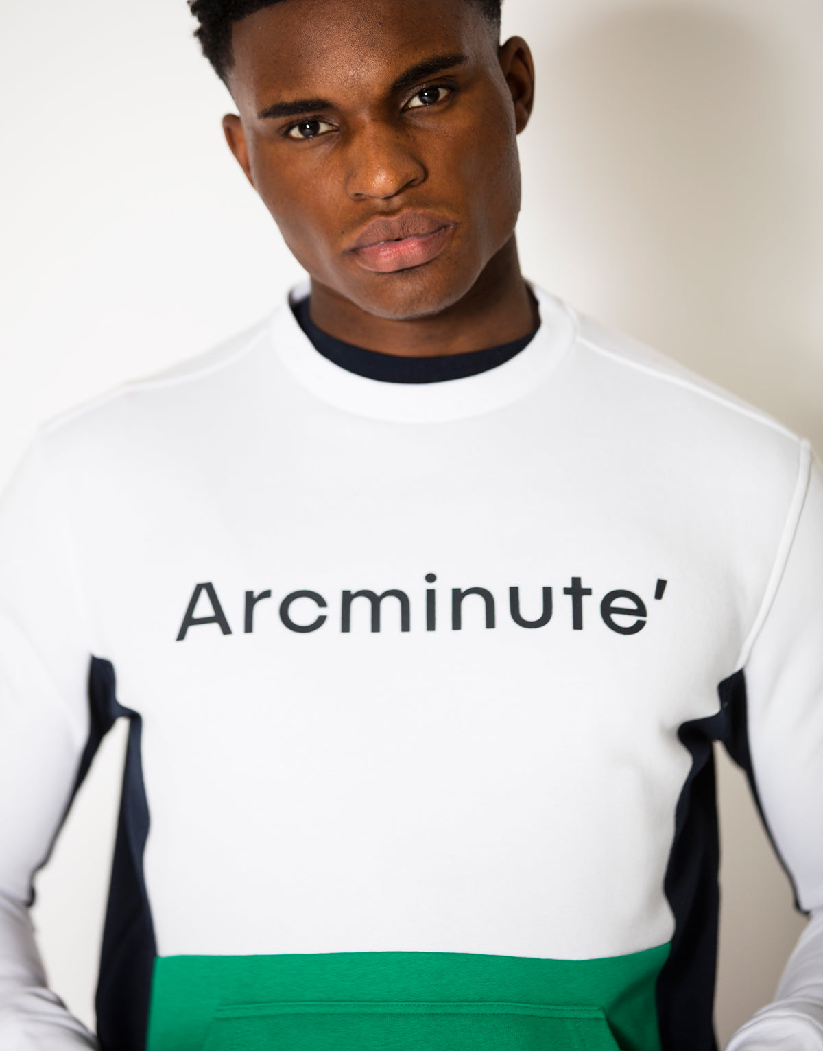 Whitson Sweatshirt White & Green - Arcminute