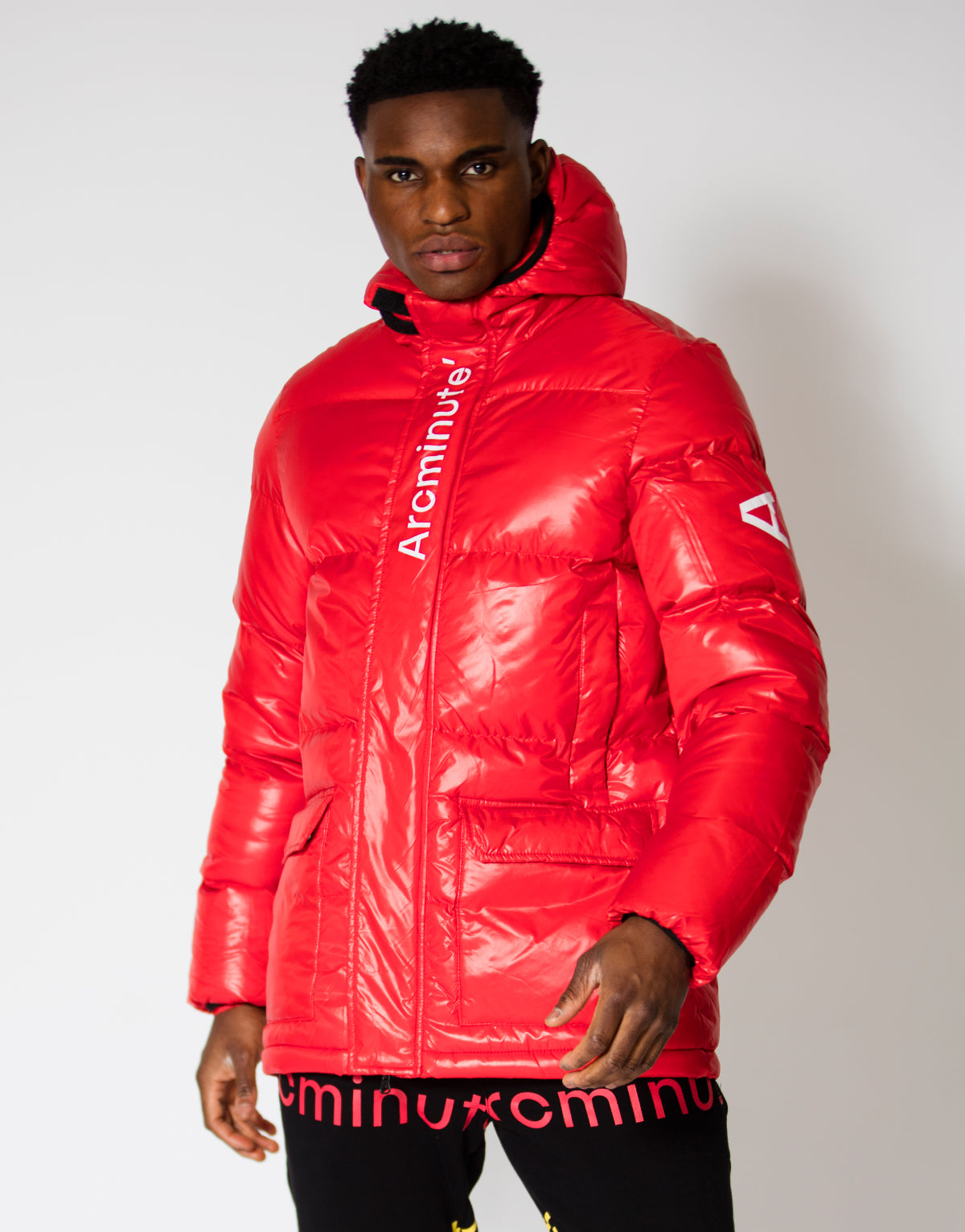 Warp Puffer Jacket Red - Arcminute