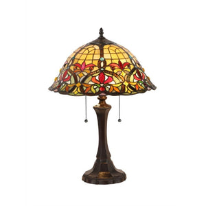 "CHLOE Lighting BERTRAM Tiffany-style 2 Light Victorian Table Lamp 18"" Shade"