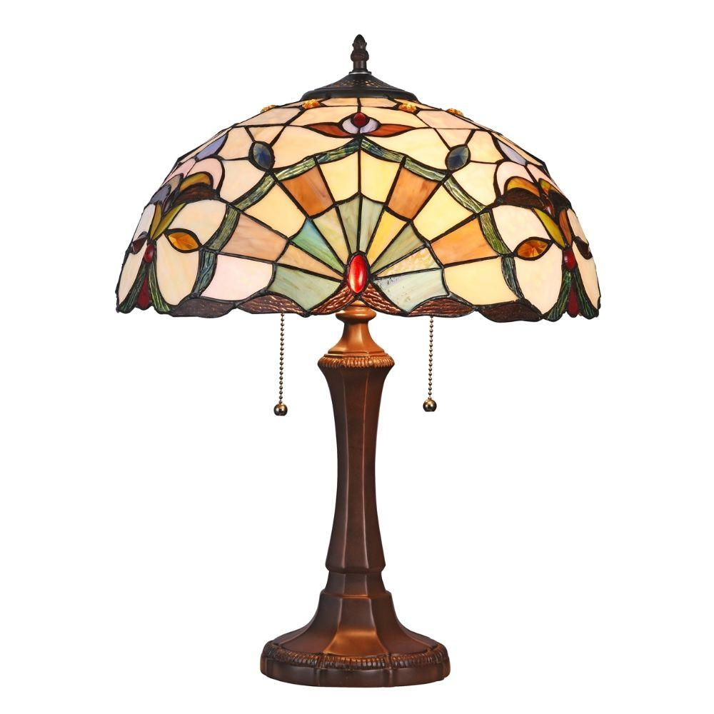 "CHLOE Lighting ADDIE Tiffany-style 2 Light VictorianTable Lamp 16"" Shade"