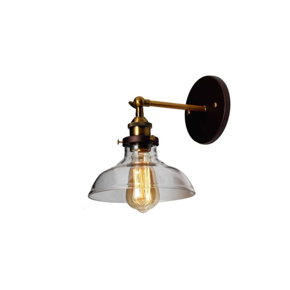 "CHLOE Lighting BRAXTON Industrial 1 Light Oil Rubbed Bronze Wall Sconce 8"" Wide"