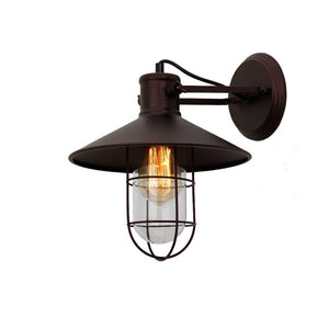 "CHLOE Lighting AVEREL Industrial 1 Light Oil Rubbed Bronze Wall Sconce 11"" Wide"