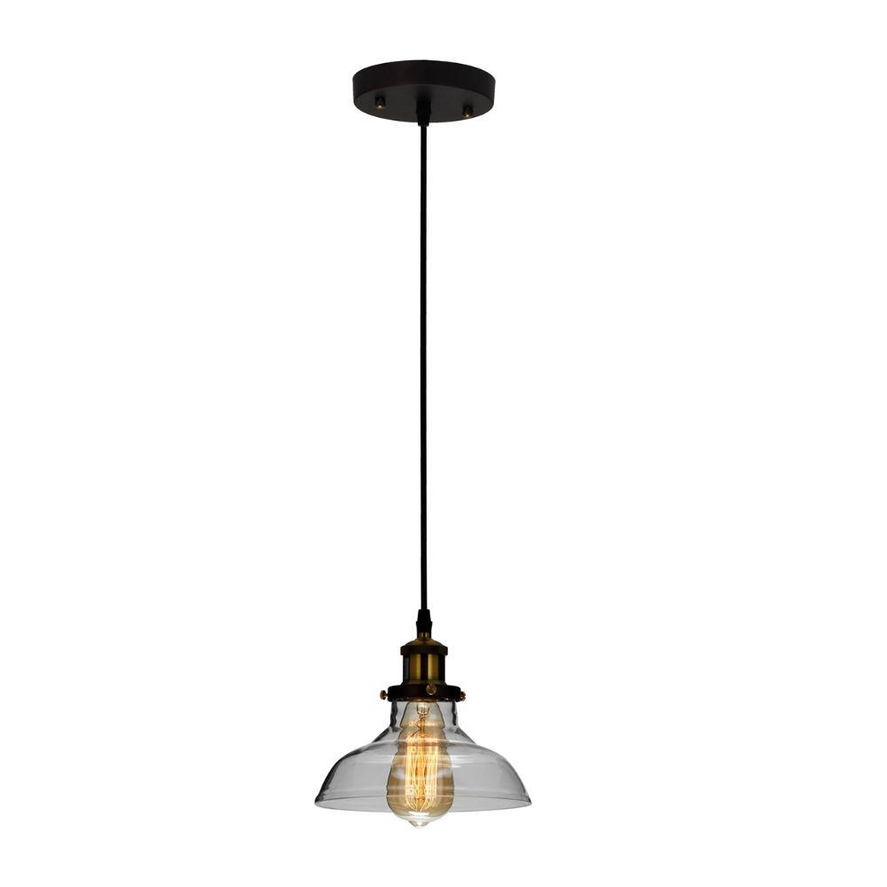 "CHLOE Lighting CADMAN Industrial 1 Light Oil Rubbed Bronze Ceiling Pendant 8"" Wide"