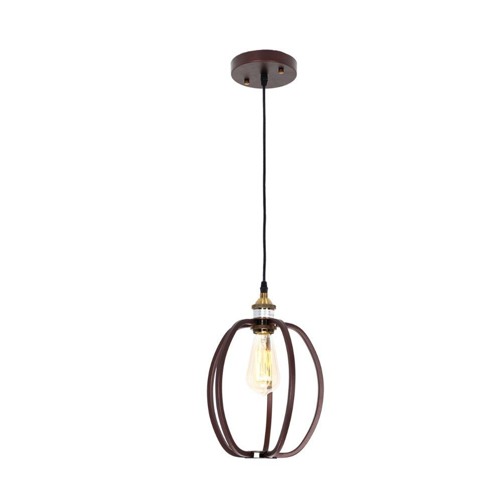 "CHLOE Lighting CERDIC Industrial 1 Light Oil Rubbed Bronze Ceiling Pendant 8"" Wide"