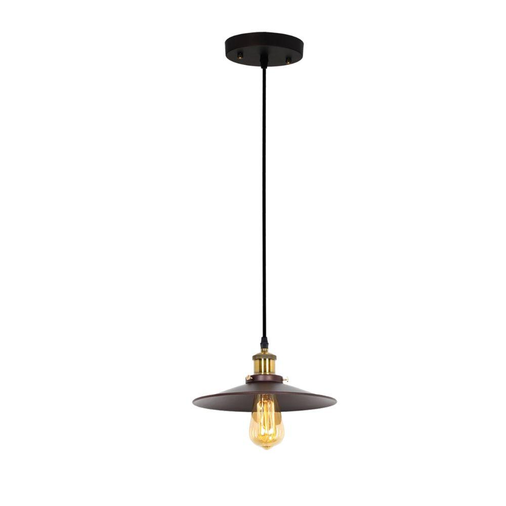 CHLOE Lighting COENBURG Industrial 1 Light Oil Rubbed Bronze Ceiling Pendant