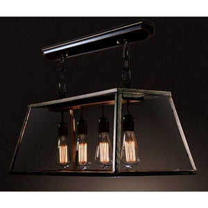 Layla Island 4-Light Edison Lamp With Bulbs