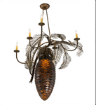 "29.5""W Pinecone 5 Arm Chandelier"
